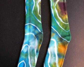 Tie Dye Bamboo Socks, Psychedelic Socks, Fun Socks, Tie Dye Gift, Tie Dyed Socks, Unique Socks, Stocking Stuffer, Hippie Gift Idea
