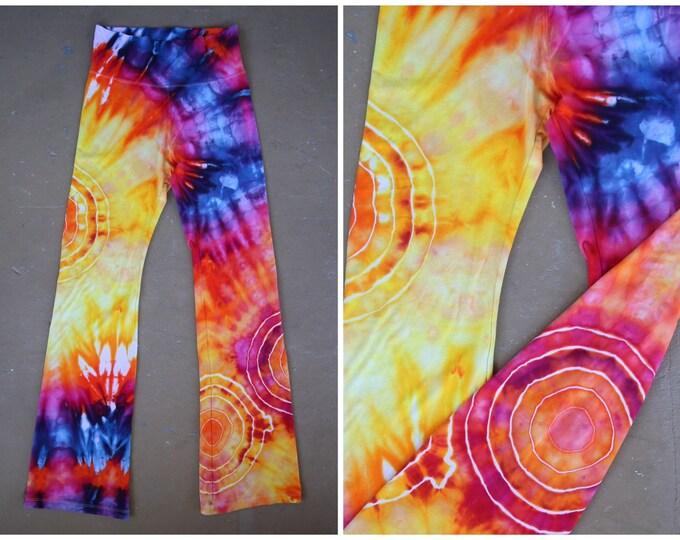 Women's Large Tie Dye Yoga Pants, Bohemian Clothes, Hippy Pants, Unique Tie Dye, Wanderlust, Comfy Pants, Lounge Pants, Pastel Tie Dye