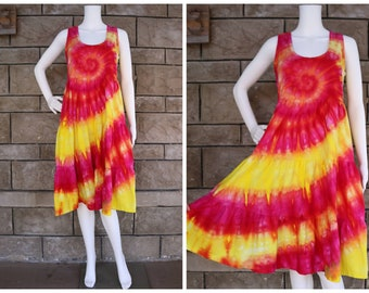 Women's Tie Dye Dress, Size Medium