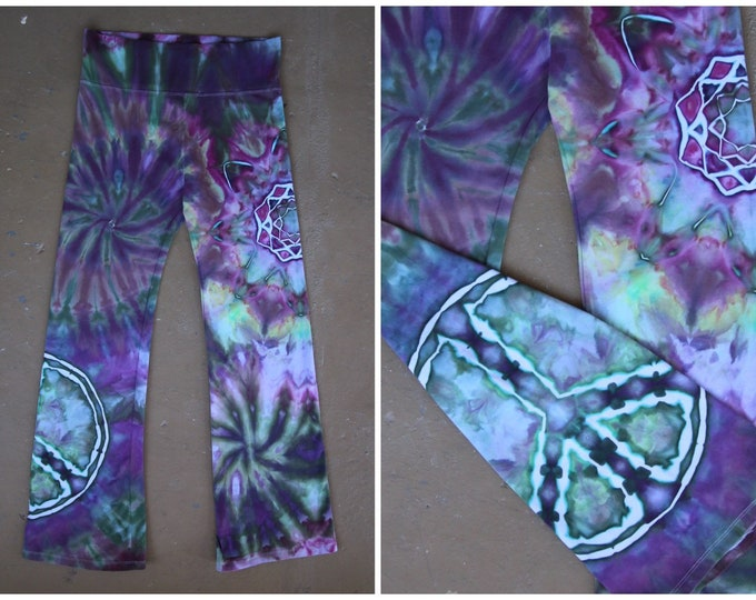 Tie Dye Yoga Pants | Extra Large Yoga Pants, Hand Dyed Yoga Pants, Unique Yoga Pants, Tie Dye Yoga Pants, bohemian clothing, Bright Tie Dye