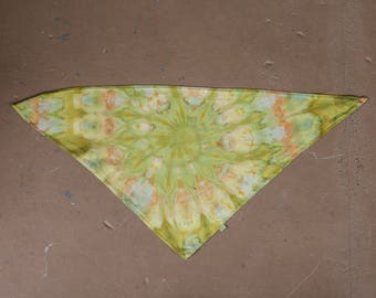 Tie Dye Bandana | Triangle Bandanna, Dog Bandana, Scarf, Camping Gear, Handkerchief, Dog Gift, Christmas Gift Idea, Hippie Gift, Doggie, Dog