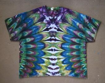 Tie Dye Shirt | 4XL Tie Dye Shirt, 4XL Tie Dye, Hand Dyed Shirt, Festival Shirt, Professional Tie Dye, Boho Chic, Rasta, Plus Size Tie Dye