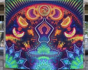 Tie Dye Tapestry | Moon Goddess Tapestry