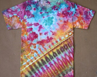 Tie Dye Shirt | Small Tie Dye, Adult Small Shirt, Adult Small Tie Dye, Rainbow Tie Dye, Festival Wear, Unisex Adult Small, Bright, Boho Chic