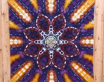 Tie Dye Tapestry | Dark Earthy Mandala