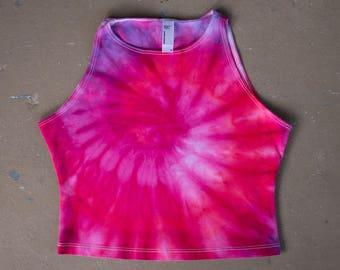 SALE Tie Dye Crop Top | Medium Crop Top, Womens tie dye, Festival Wear, Hippie Shirt, Festival Shirt, Boho Chic, Boho Crop Top, Tiedye Top