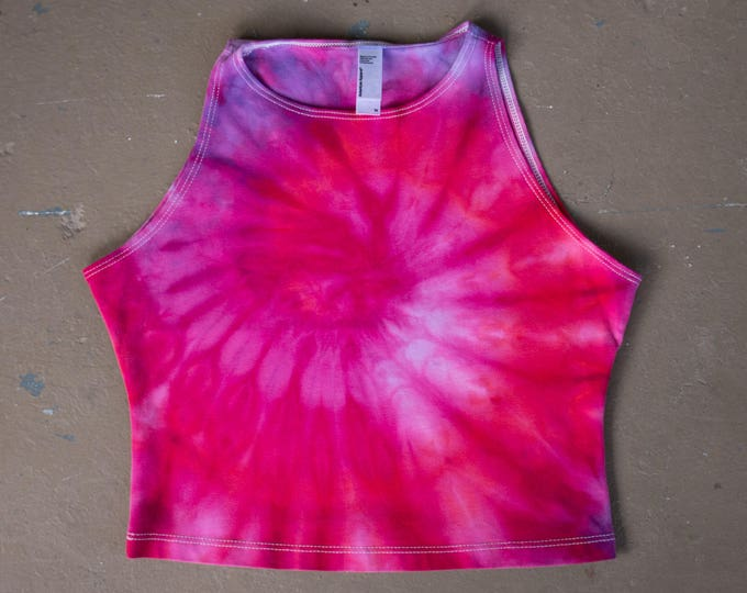 SALE Tie Dye Crop Top   Medium Crop Top, Womens tie dye, Festival Wear, Hippie Shirt, Festival Shirt, Boho Chic, Boho Crop Top, Tiedye Top