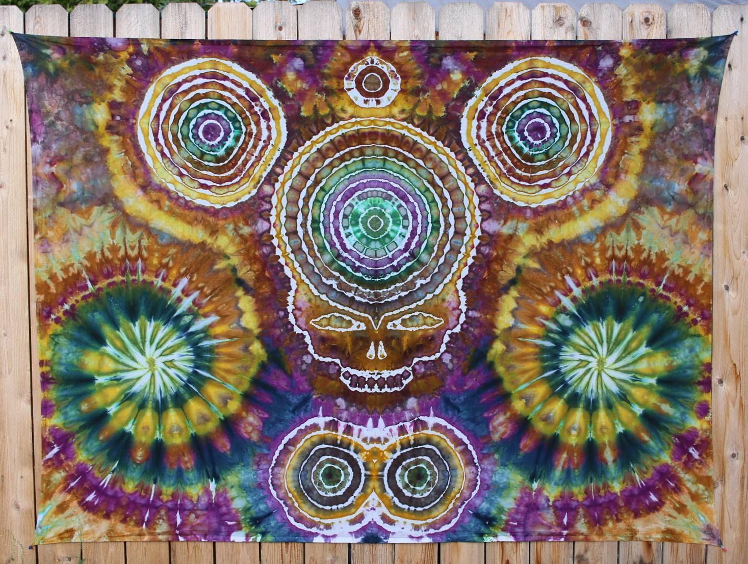 Tie Dye Tapestry | Large Tapestry, Hippie Tapestry, Mandala Tapestry ...