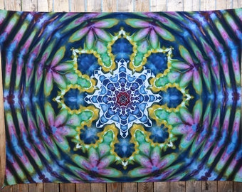 Large Tie Dye Tapestry   Wall Tapestry, Mandala Tapestry, Boho Tapestry, Hand Dyed, Hippie Tapestry, Christmas Gift Idea, Handmade, Unique