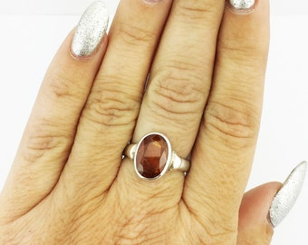 Orange Kyanite Ring  925 Sterling Silver Orange 6.00 Grams Size 7.5