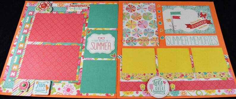 Premade Summer Scrapbook 12X12 Scrapbook Layout Kit Scrapbook Premade Page 12X12 Premade Scrapbook Page 12X12 Summer Scrapbook Page Kit