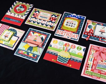 Happy Birthday Card Kit, Premade Birthday Cards, Handmade Card Kit, Handmade Birthday Card Kit, Pre-made Birthday Cards, It's A Celebration
