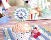 Meri Meri Toot Sweet Cupcake Wraps in Polka Dots & Stripe Designs - Wrappers, Gift, Party