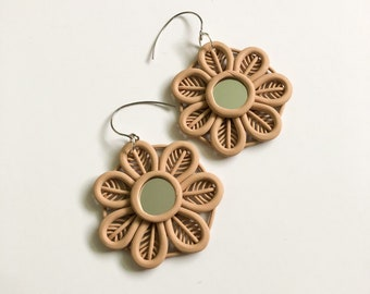 Polymer clay earrings maxi STOOL Hook back