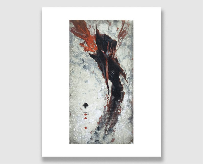 Death Angel with Fiery Wings. Spooky Character Illustration. image 0