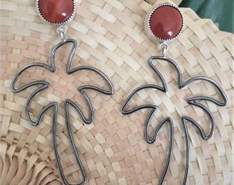 Sunset Palms Drop Earrings