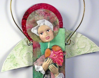 Mixed Media Art Doll - Spirit Doll - Abstract Collage  Doll - Assemblage Doll - WILLING LOVE
