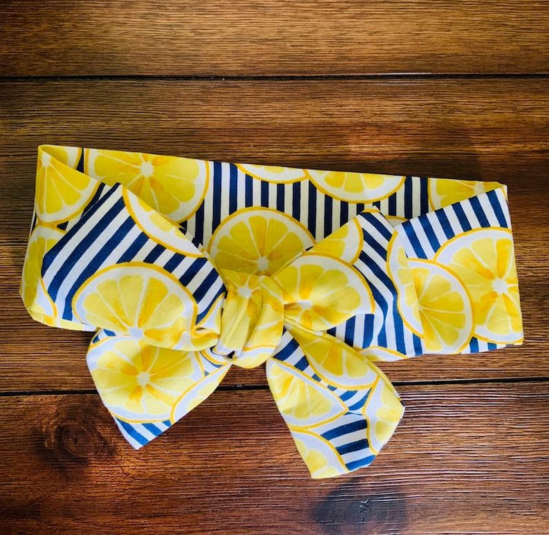 Bow headwrap turban headband first birthday bow| summer bows turban headwrap lemonade| lemon bow| bow headband