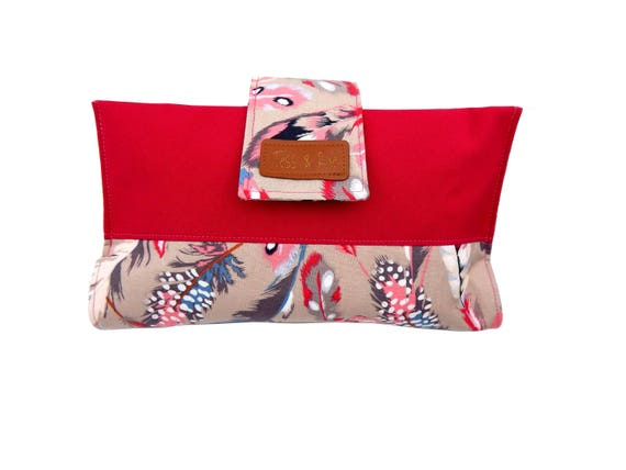 Tess /& Rae diaper wallet nappy wallet baby shower gift nappy clutch Cotton