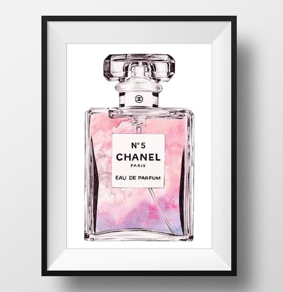 Chanel N 5 Pretty In Pink Parfum Print Impression Etsy