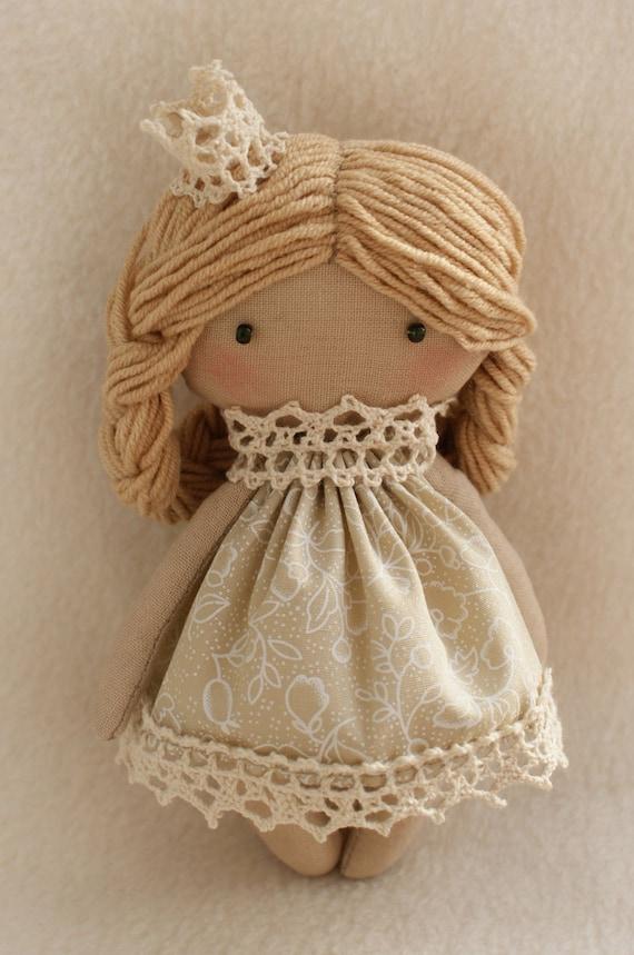 DIY Kit Rag Doll Princess Selena Blonde Angel Girl Tilda style ...