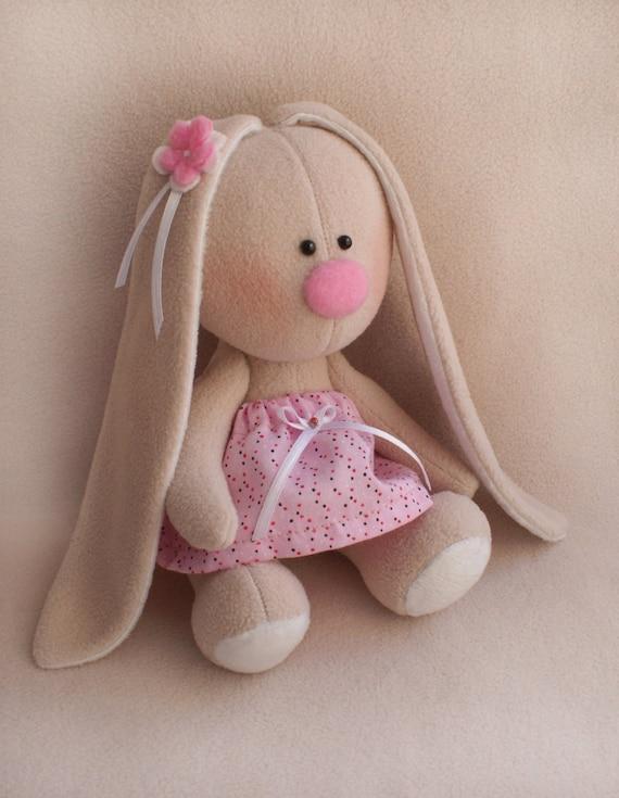 DIY Kit Kaninchen einfach zu tun Rosa Kleid Hase Hase Tilda   Etsy