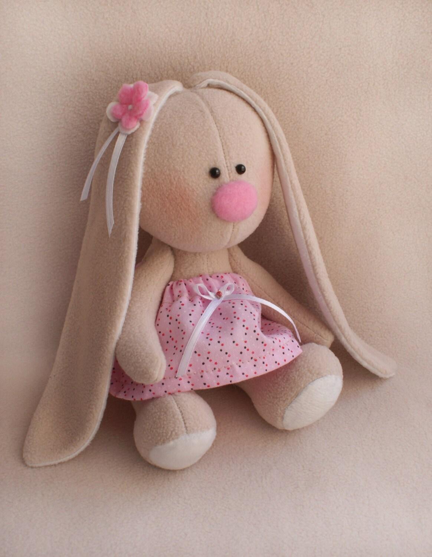 DIY Kit Kaninchen einfach zu tun Rosa Kleid Hase Hase Tilda