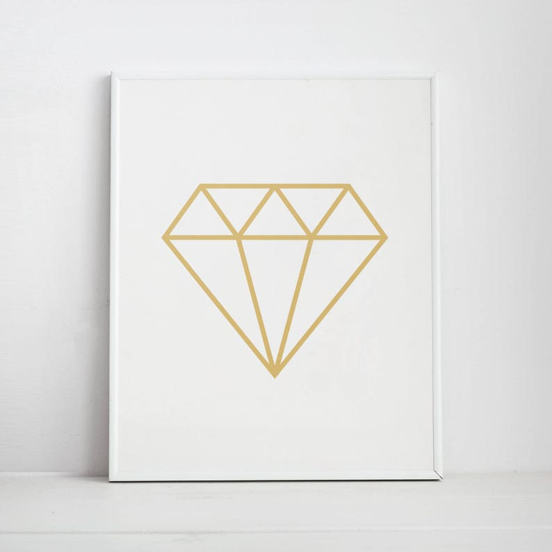 photo regarding Diamond Printable titled Diamond Print, Diamond Printable Artwork, Gold Diamond, Scandinavian Print, Diamonds, Printable Artwork, Gold Print, Gold Wall Artwork, Affiche