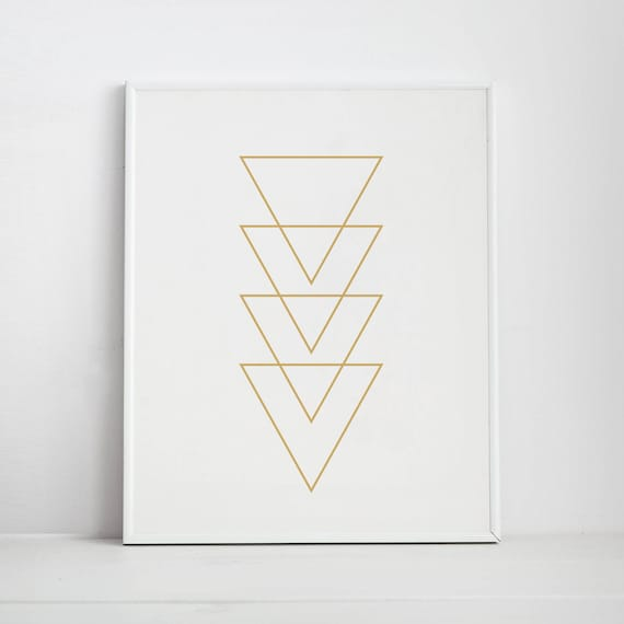photograph about Printable Triangle known as Gold Triangle Printable Artwork, Gold Print Wall Artwork, Gold Printables, Geometric Triangles, Geometric Wall Artwork, Triangle Artwork Prints, Gold Print
