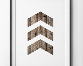 Distressed WoodGrain Chevrons Wall Art 3 Chevron Geometric Minimalist Home Decor Chevron Print Wall Art Digital Print. & Black Chevrons Wall Art 3 Chevron Geometric Black and White