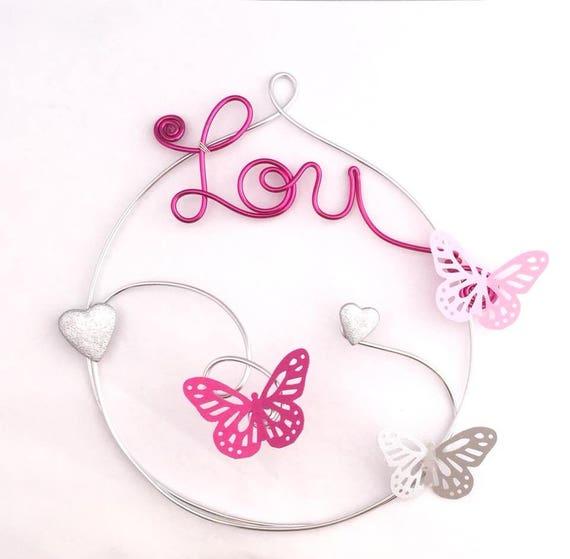 Décoration de chambre fille thème des papillons Petit modèle | Etsy