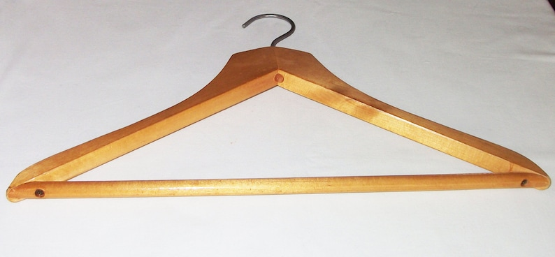 Vintage Wooden Hanger Clothes Hangers Antique Decor Old Simple Wood Coat Hangers Soviet Vintage 1970s