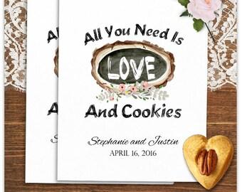 24 Wedding Cookie Bags - Cookie Bags -  Wedding Party Favors - Wedding Treat Bags - Rustic Wedding CB07WED29