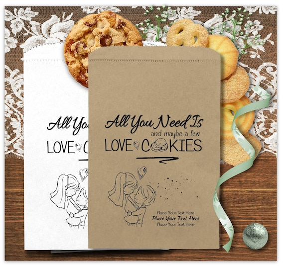 Wedding Cookie Bags | Personalized Wedding Cookie Bags 24 Bags All You Need Is Etsy