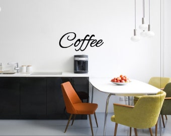 Coffee Vinyl Decal - Vinyl Wall Decal - Wall Decor - Vinyl Decor - Coffee Decal - Kitchen Decor - Kitchen Decal - Coffee Decor - Wall Decal