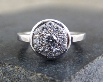 Diamond ring, engagement diamond ring, white diamond ring, diamond, ring, lady diamond ring, pavé diamond ring, gold engagement diamond ring
