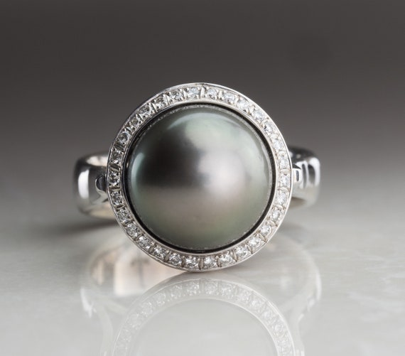 bague or blanc perle tahiti
