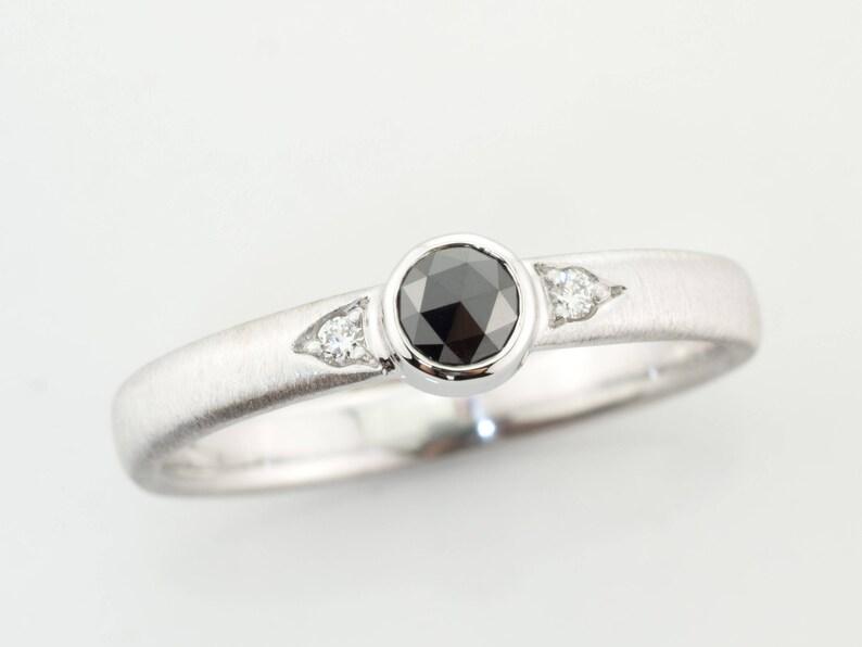 35a653d9d1f Solitaire Diamant noir bague solitaire dame bague diamant