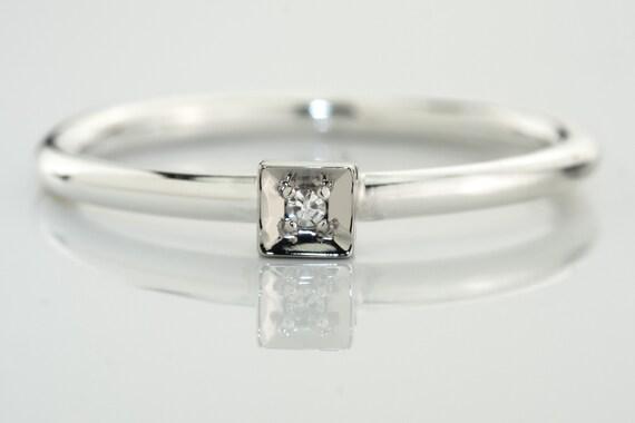 bague diamant argent