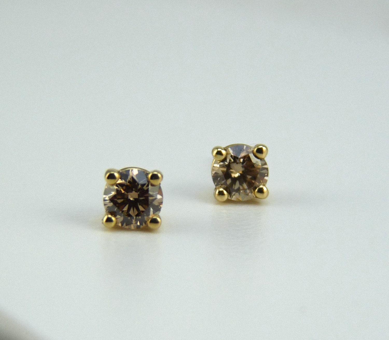 champagne diamonds studs champagne diamond earrings stone. Black Bedroom Furniture Sets. Home Design Ideas