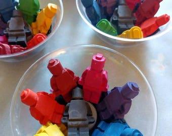Lego Figure Handmade Crayons - Rainbow