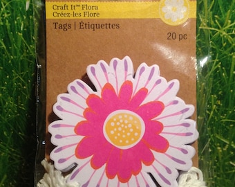 Craft-it Flower tags Set of 20 with strings