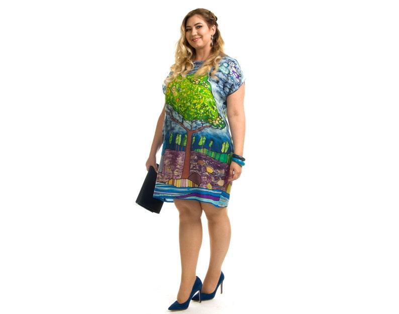 Women loose dress Summer pregnancy dress Women loose tunic Pregnancy tunic Floral loose dress Loose tunic dress Oversized dress