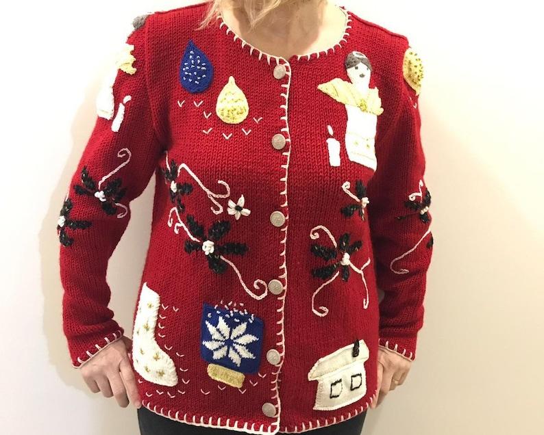 Xmas Gift for Women\u2019s Boyfriend Cardigan Christmas Cardigan Cable Knitted Grunge Sweater Coat Custom Order Knitting, Medium Overcoat