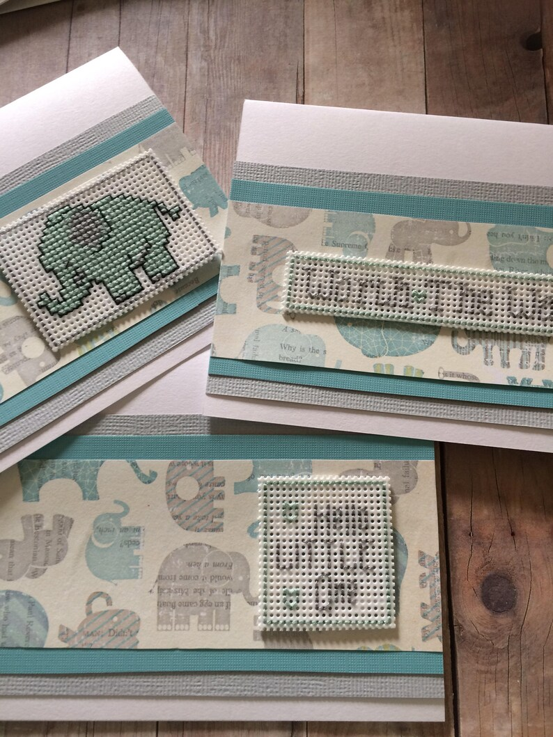 Baby Elephant Card Gender Reveal Card Baby Shower Card New Baby Card