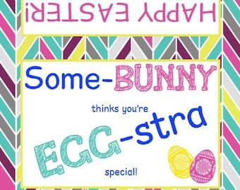 Easter | Bag Topper | Printable | SomeBunny | Eggstra Special | Digital File