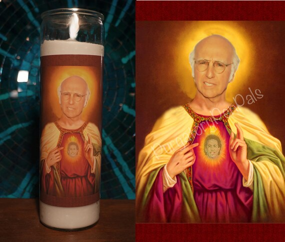 Saint Larry David Prayer Candle Curb Your Enthusiasm Etsy