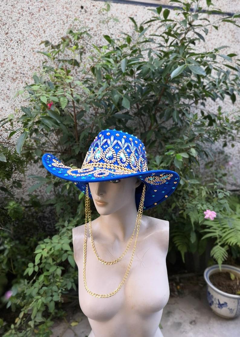 Handmade Captain Hat: festival hat military hat rave cap costume,Carnival  #H008 bohemian
