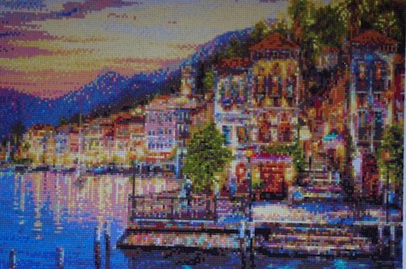 Mediterranen Abend Diamant Malerei Home Dekoration Fertig | Etsy