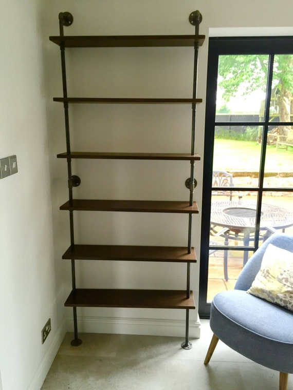 loft style industrial steel pipe bookcase shelving with  etsy